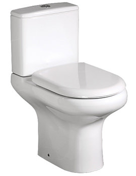 Compact Close Coupled WC With Soft Close Seat 615mm