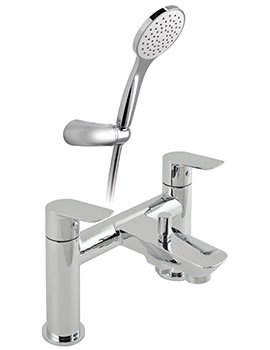 Photon 2 Hole Bath Shower Mixer Tap With Shower Kit