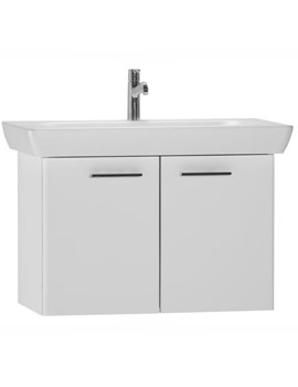 VitrA S20 850mm Vanity Unit And Basin - High Gloss White