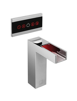 Identity Open Channel Waterfall Spout With LED Light And Touch Screen