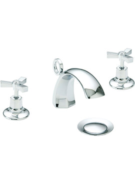 Gracechurch 3TH Basin Mixer Tap With Chrome Handles