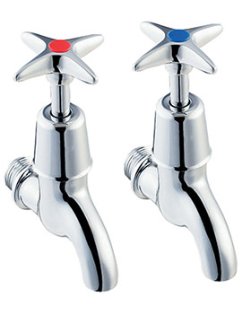 1-2 Inches BS5412 Valve Cross Handle Bib Taps - 095X