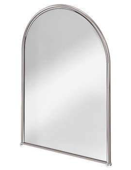 Arched Mirror With Chrome Frame - A9 CHR