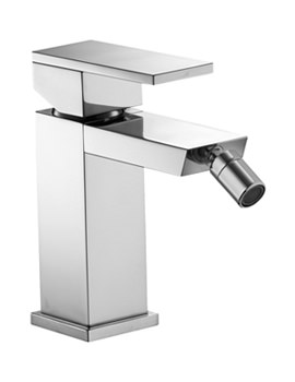 Bloque Mono Bidet Mixer Tap With Clicker Waste - BQBID