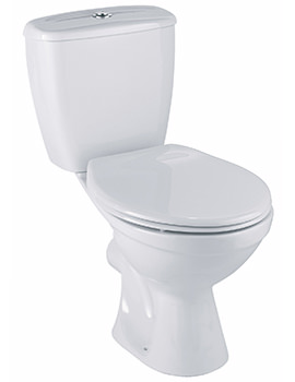 Twyford Option Close Coupled WC Pan With Dual Flush Cistern 630mm