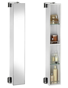 Croydex Ottawa 1200mm Stainless Steel Spinning Cabinet - WC880605