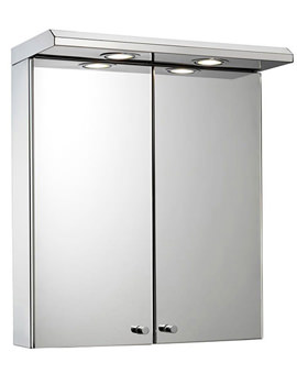 Shire Double Door Illuminated Cabinet With Shaver Socket
