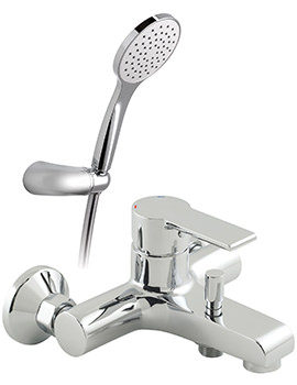 Ion Exposed Bath Shower Mixer Tap With Shower Kit