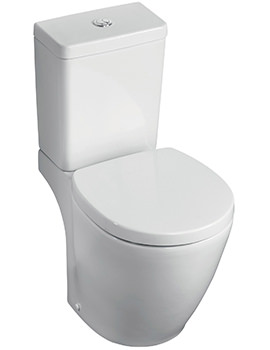 Ideal Standard Concept Space Compact Close Coupled WC Pan 605mm