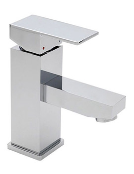 Edge Shorter Spout Mini Mono Basin Mixer Tap With Click Clack Waste