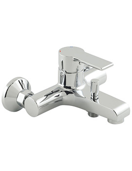Ion Exposed Wall Mounted Bath Shower Mixer Tap - ION-123
