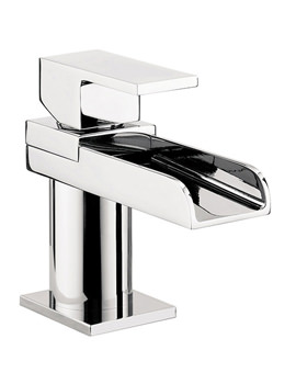 Water Square Mini Monobloc Basin Mixer Tap - WS114DNC