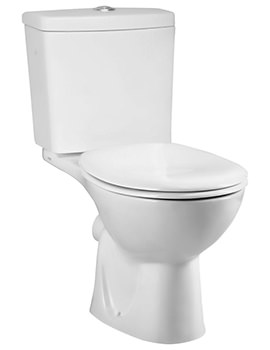 Layton Close Coupled WC Pan With Cistern And Soft Close Toilet Seat