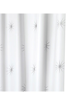 Croydex Stellar Textile Shower Curtain - AF584740