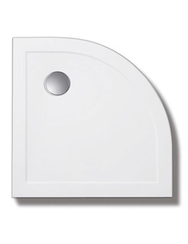 Standard Height 80mm Stone Resin Quadrant Tray With Waste