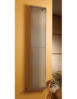 Rimini Straight Single Tube-On-Tube Radiator White 300 x 1800mm