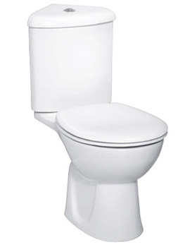 VitrA Layton Close Coupled WC With Corner Cistern And Standard Seat