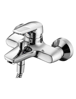 Ceramix Blue Wall Mounted Exposed Bath Shower Mixer Tap