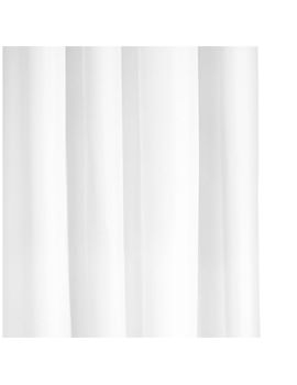 Croydex White Textile Hookless Shower Curtain - AF289022