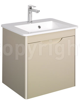 Related Bauhaus Solo 500mm Single Drawer Wall Hung Basin Unit Calico