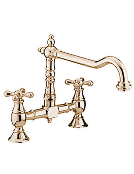 Bristan Colonial Bridge Sink Mixer Tap Antique Bronze - K BRSNK ABRZ