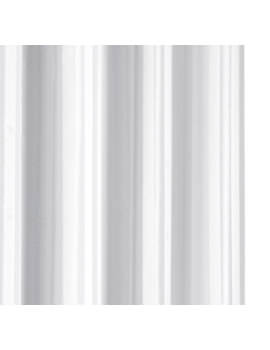 Croydex White Regency Stripe Textile Hookless Shower Curtain