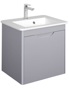 Solo Quartz 500mm Wall Mounted Single Drawer Basin Unit