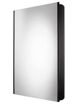 Ascension Limit Slimline 1 Door Bathroom Cabinet 450mm Black - AS415BL