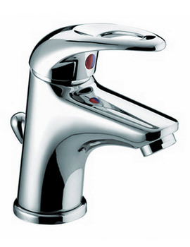 Small Mono Basin Mixer Tap With Pop Up Waste - J SMBAS C