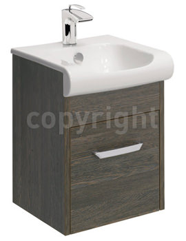 Essence 400mm Wall Hung Ebony Vanity Unit And Basin
