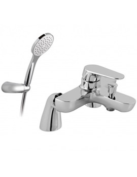 Ascent 2 Hole Deck Mounted Bath Shower Mixer Tap With Kit