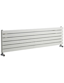 Sloane Single Panel Horizontal White Radiator 1500x354mm