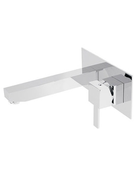 Te 2 Hole Wall Mounted Single Lever Basin Mixer Tap - TE-109S