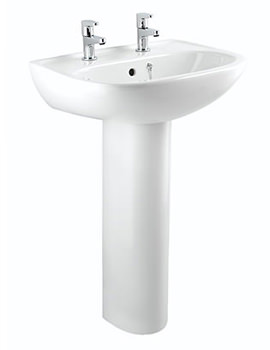 Bristan Quest 1 Taphole Basin 540mm White - SW QST BASIN 1H W