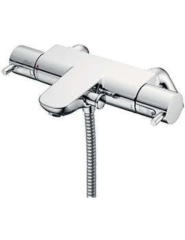 Alto Ecotherm Bath Shower Mixer Tap With Rim Mounted Legs