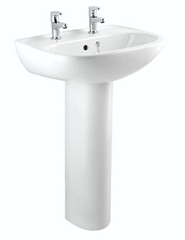Bristan Quest 2 Taphole Basin 540mm White - SW QST BASIN 2H W