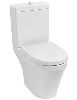 Delight Open BTW Close Coupled Pan And Cistern With Soft Close Seat