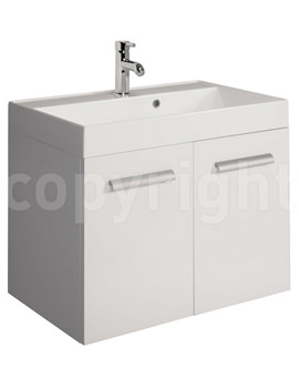 Related Bauhaus Design 700mm Two Door Wall Hung Basin Unit White
