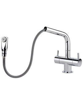 Aquapro Pull Out Monobloc Kitchen Sink Mixer Tap Chrome