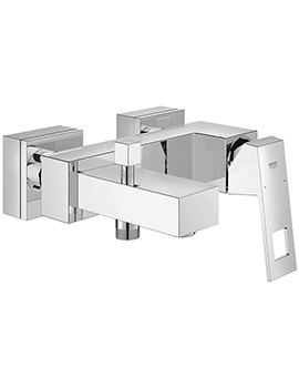 Eurocube Wall Mounted Single Lever Chrome Bath Shower Mixer Tap