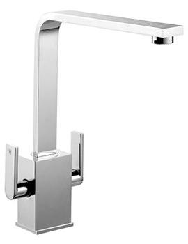 Quadrant Contemporary Monobloc Kitchen Sink Mixer Tap Chrome