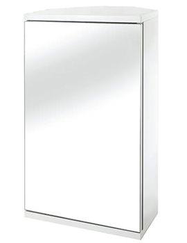 Croydex Simplicity Self Assembly Corner Mirror Cabinet - WC257222