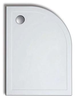 Standard Height 1200 x 800mm Offset Quadrant Stone Resin Tray RH