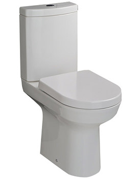 Highline Close Coupled WC With Soft Close Toilet Seat 650mm