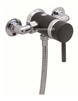 Milan Exposed Concealed Manual Shower Valve Black - 63420