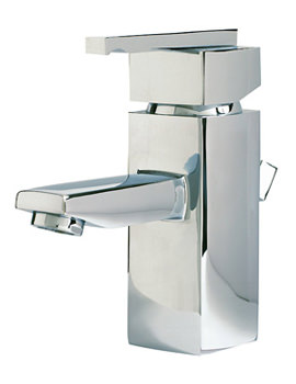 SQ Series Basin Mono Tap With Sprung Waste - SQ009