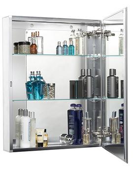 Croydex Single Door Aluminium Cabinet 610 X 760mm - WC101469