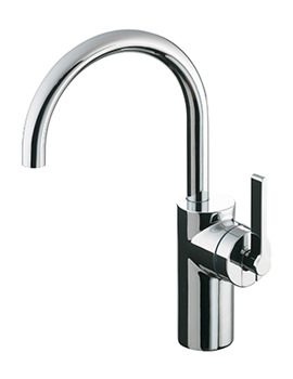 Silver Single Lever Vessel Basin Mixer Tap
