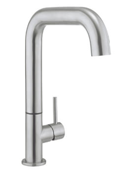 Cucina Tube Stainless Steel Side Lever Kitchen Sink Mixer Tap