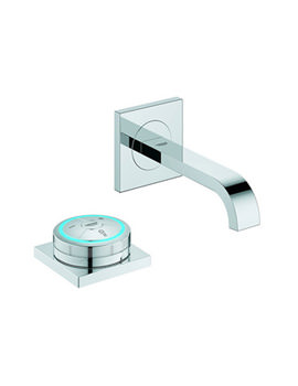 Allure F Digital Chrome Basin Mixer Tap With Digital Controller